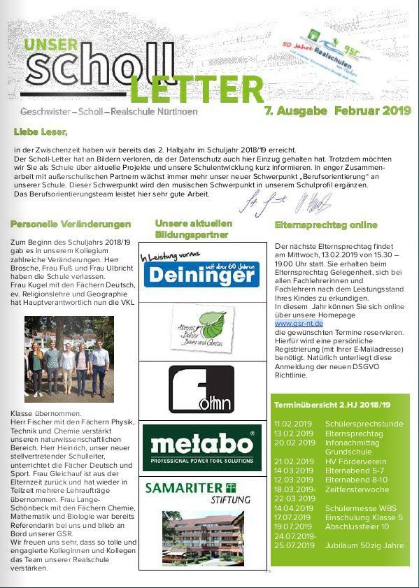 Scholl Letter 22019